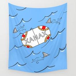 Xanax Life Raft Wall Tapestry