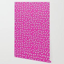 Pink baby feeding bottle pattern Wallpaper