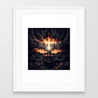diablo Framed Art Prints featuring Diablo by dracorubio