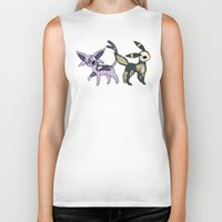 umbreon Biker Tanks featuring Espeon & Umbreon Anatomy by Logan Niblock
