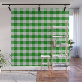 Islamic Green Buffalo Plaid Wall Mural