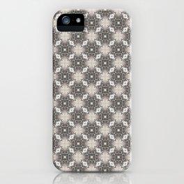 Bronze & Gray Vintage Ornate Geometric Pattern iPhone Case