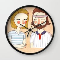 girl Wall Clocks featuring Secretly In Love by Nan Lawson