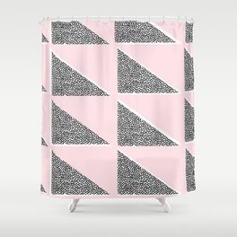 Pink Tridots Shower Curtain