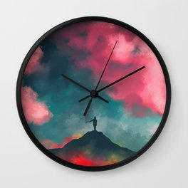 Anxieties Away Wall Clock