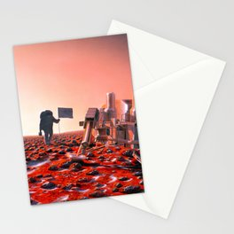 Concept Art of Future Manned Mars Mission Stationery Cards