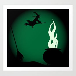Halloween Witch Poster Background Art Print