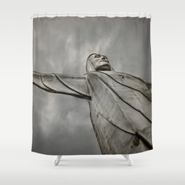 Christ of the Ozarks Shower Curtain