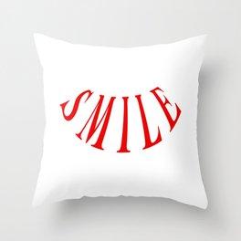 MAKE ME SMILE LOGO Throw Pillow