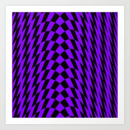 Purple checkered streak Art Print