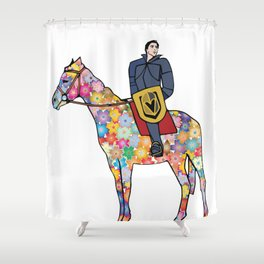 Sir Flower the Golden Knight Shower Curtain