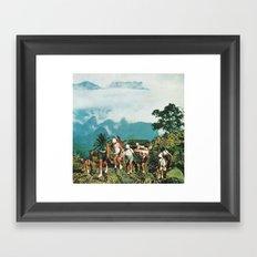 Picking a way... Framed Art Print