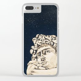 David sotto le stelle Clear iPhone Case