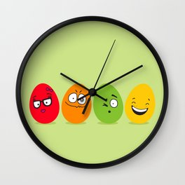 Funny Easter eggs Wall Clock