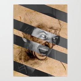 Leonardo da Vinci's Head for The Battle of Anghiari & Jack Nicholson Canvas Poster
