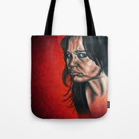 """anxiety Tote Bags featuring """"Anxiety"""" by PMS Artwork"""