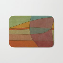"""Colorful Abstract Landscape"" Bath Mat"