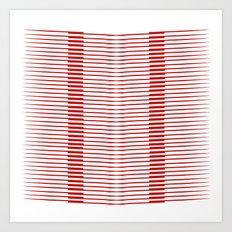 Red lines Art Print