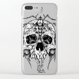 Moth Skull Clear iPhone Case