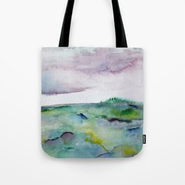 """""""337"""" abstract watercolor landscape Tote Bag"""