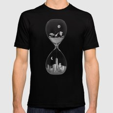 THE EVOLUTION OF THE WORLD b/w Black Mens Fitted Tee MEDIUM