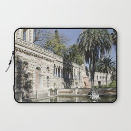 Royal Gardens Reflection - Alcazar of Seville Laptop Sleeve