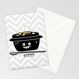 Korean Spicy soft Tofu Stew soup Sundubu jjigae hot Stationery Cards