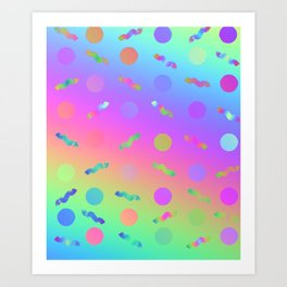 Rainbow Prism Colors Pattern Art Print