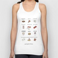 parks and rec Tank Tops featuring Foods of Parks and Rec by Tyler Feder