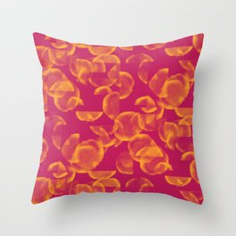 Tangerine Glitch Throw Pillow