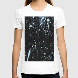 Decay Pattern, Black with Splash T-shirt
