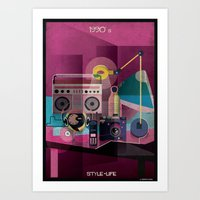 babina Art Prints featuring 1990_STYLE-LIFE by federico babina