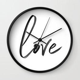 """Handwritten """"Love"""" Wall Clock"""