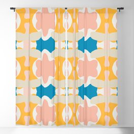 Pastel Colors Blossom Pattern Blackout Curtain