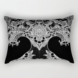 Unity of Halves - Life Tree - Rebirth - Black Rectangular Pillow