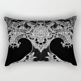 Unity of Halves - Life Tree - Rebirth - Black Rectangular Pillow