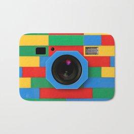 classic retro full color rubik cube camera iPhone 4 4s 5 5s 5c, ipod, ipad, pillow case and tshirt Bath Mat