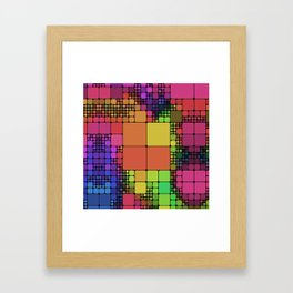 DISCO GEOMETRY  Framed Art Print