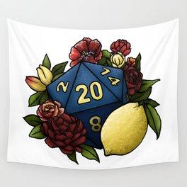 Marsala Lemon D20 Tabletop RPG Gaming Dice Wall Tapestry