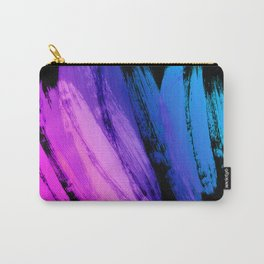 Hot Pink to Sky Blue Abstract Brushstrokes Carry-All Pouch