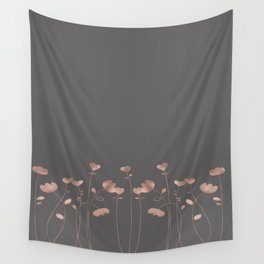 Rosegold pink flowers - floral design - Flower Wall Tapestry