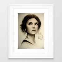 vampire diaries Framed Art Prints featuring Nina Dobrev The Vampire Diaries  by Yuliya  Talanova