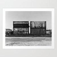 Shipping Yard Art Print