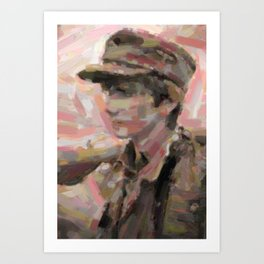 Teen Boy German Soldier 2 Art Print