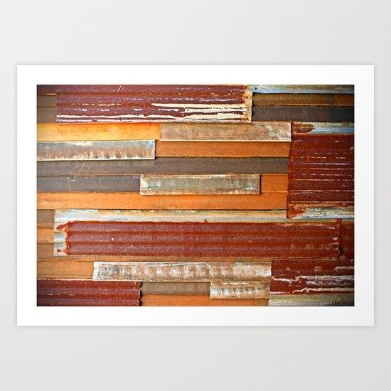 Corrugated iron sheets Art Print