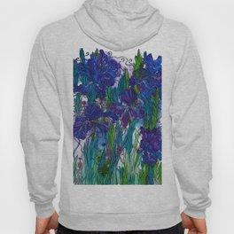 Blue Irises Hoody