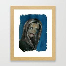 Sad Girl Portrait Framed Art Print