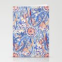 Boho Flower Burst in Red and Blue by micklyn