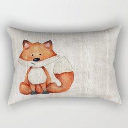 Little Fox, Baby Fox, Baby Animals, Forest Critters, Woodland Animals, Nursery Art Rectangular Pillow