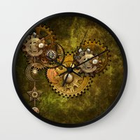 wall clock Wall Clocks featuring Clock Wall 2 by Deborah DaNaan